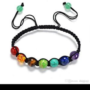 Jewelry - Chakra Bead Bracelet Adjustable Rope